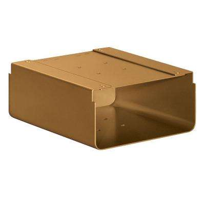 Newspaper Holder for Designer Roadside Mailbox, Brass