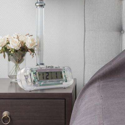 Small Clear Digital LCD Alarm Table Clock
