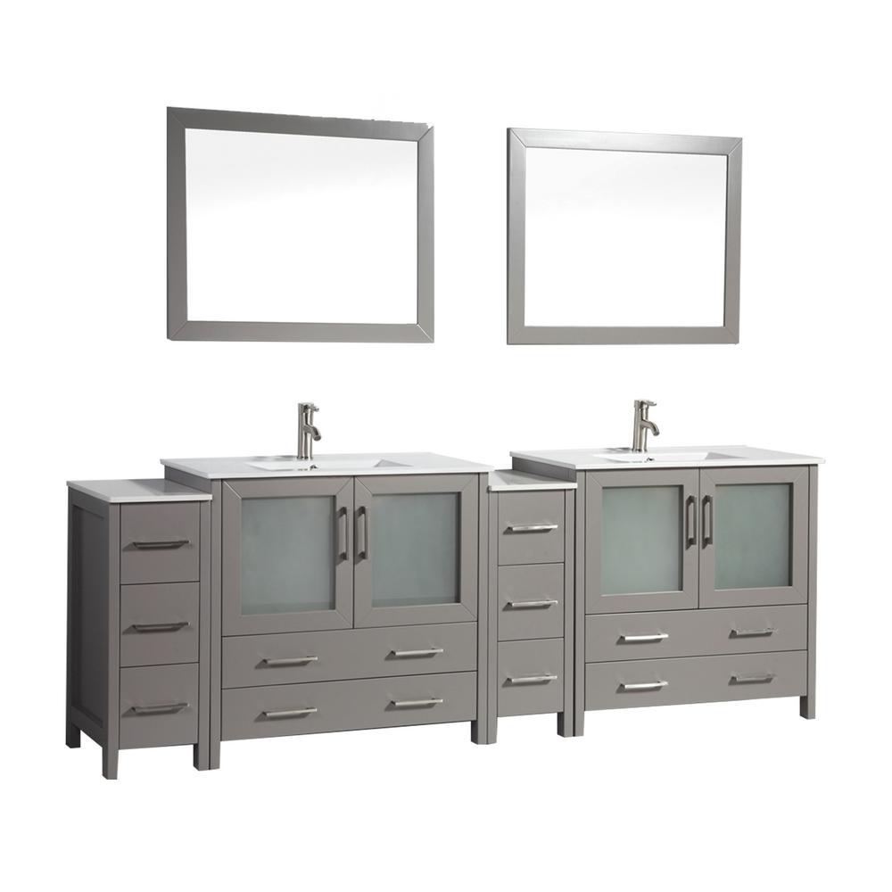 Vanity Art Brescia 96 In W X 18 In D X 36 In H Bathroom Vanity In