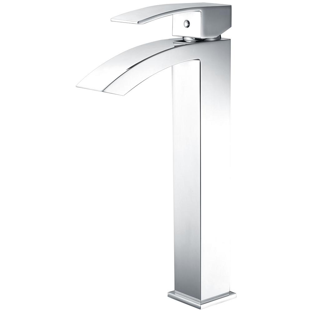 Tutti Single Hole Single-Handle Bathroom Faucet in Polished Chrome