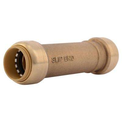3/4 in. Brass Push-to-Connect Slip Coupling