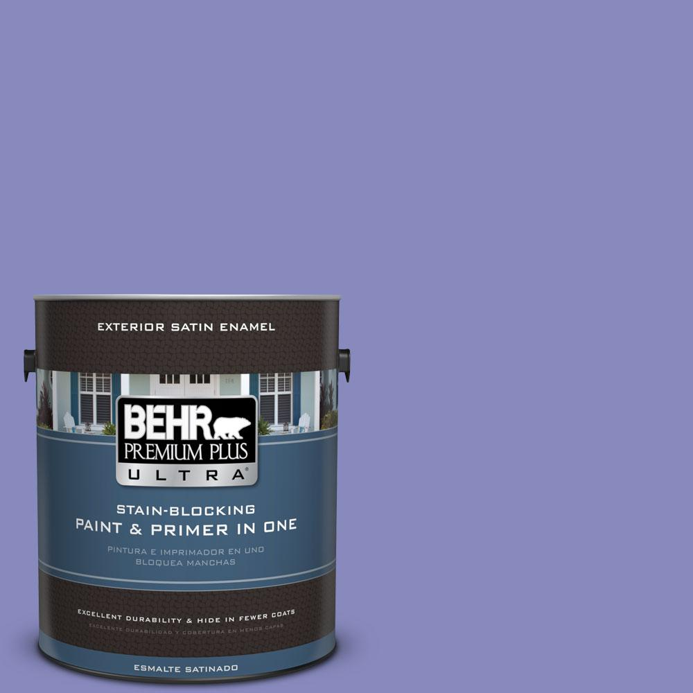 BEHR Premium Plus Ultra 1-gal. #620B-5 Pristine Petal Satin Enamel Exterior Paint