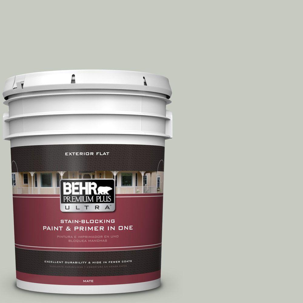 BEHR Premium Plus Ultra 5-gal. #PPL-80 Dynasty Celadon Flat Exterior Paint