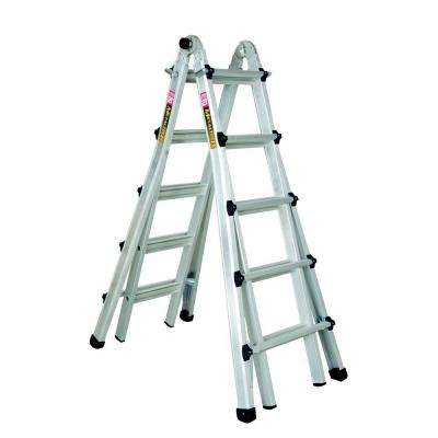 21 ft. Aluminum Telescoping Multi-Position Ladder with 300 lb. Load Capacity