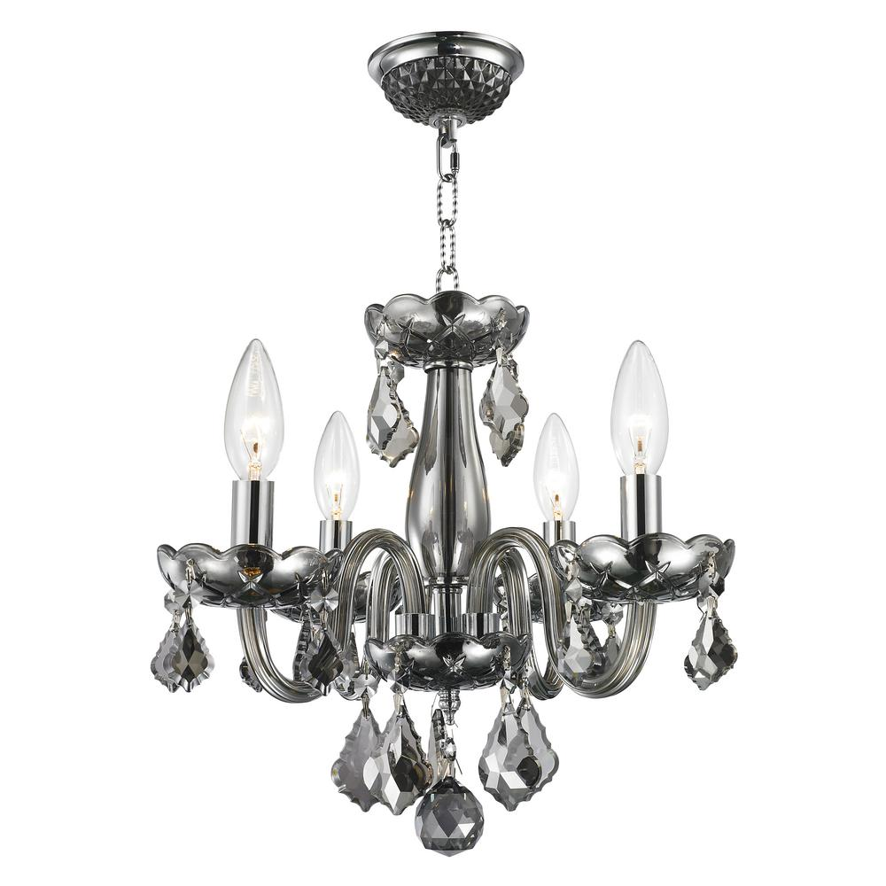 Worldwide Lighting Clarion Collection 4 Light Polished Chrome