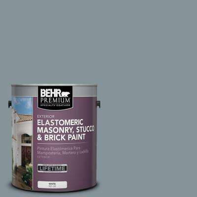 1 gal. #MS-68 Cape Storm Elastomeric Masonry, Stucco and Brick Exterior Paint