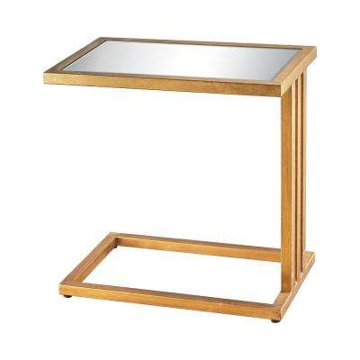 Andy Gold Leaf And Mirror Side Table