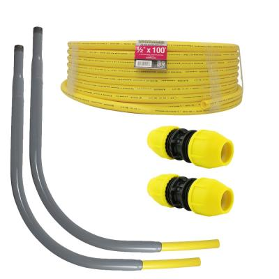 Underground 1/2 in. IPS New Install Kit 1-Roll of 1/2 in. x 100 ft. Pipe, 2-1/2 in. Couplers, 2-1/2 in. Meter Risers