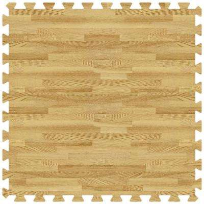 Light Oak 24 in. x 24 in. Comfortable Wood Grain Mat (100 sq.ft. / Case)