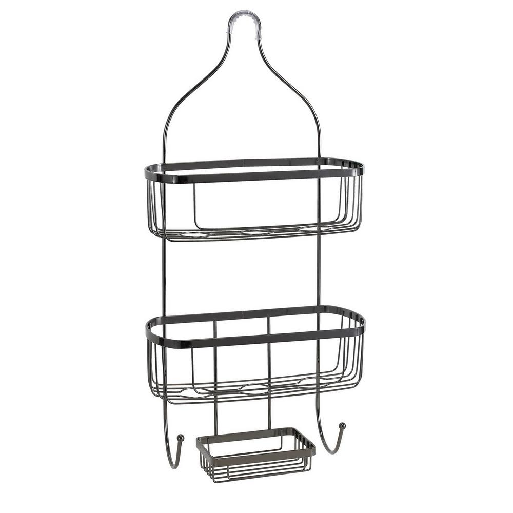 Bath Bliss Prince Design Shower Caddy in Black Onyx-4906-ONYX - The ...