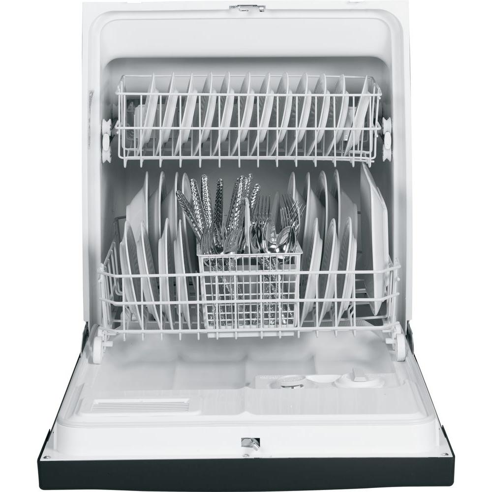 Ge Front Control Under The Sink Dishwasher In White 63 Dba