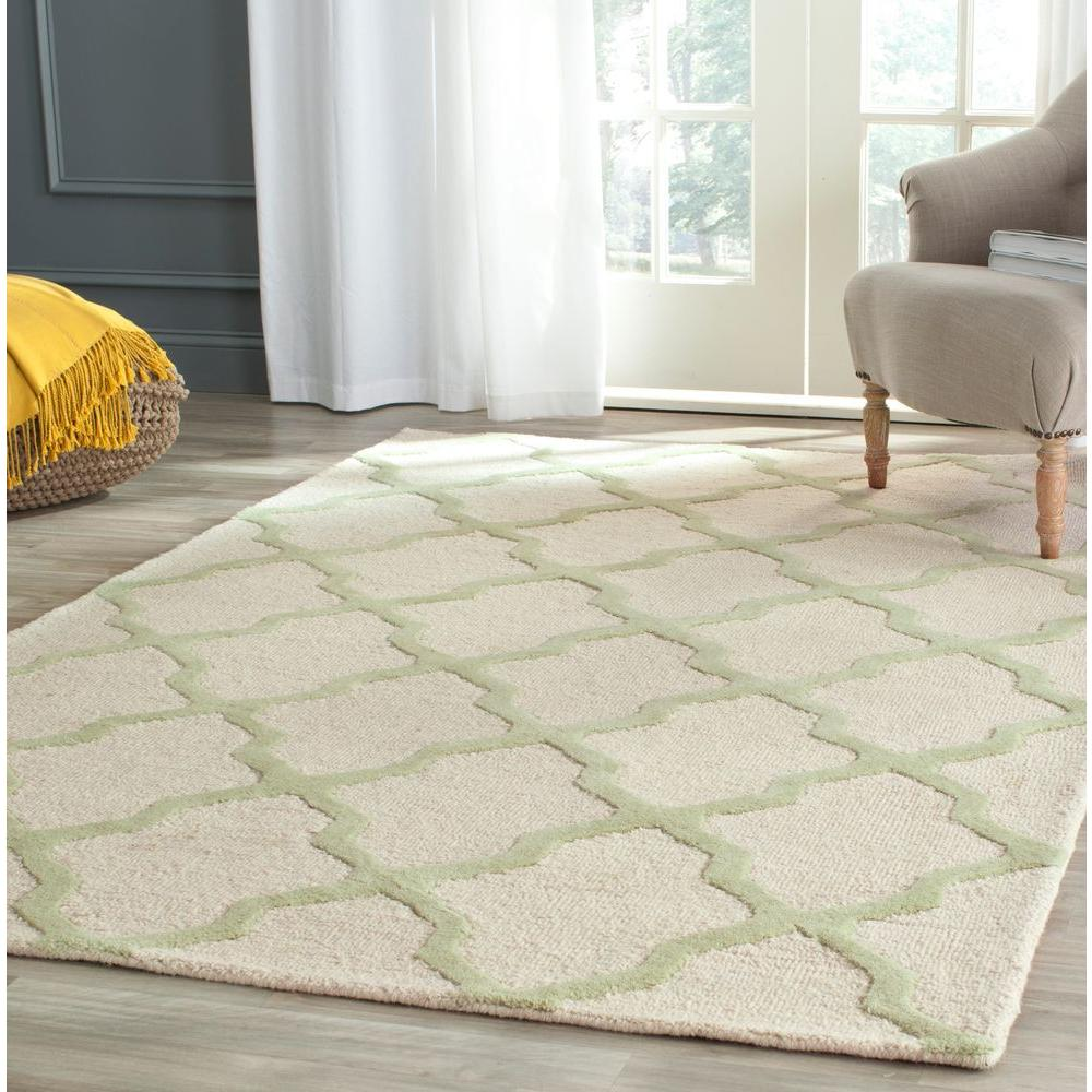 Cambridge Ivory/Light Green 6 ft. x 6 ft. Square Area Rug