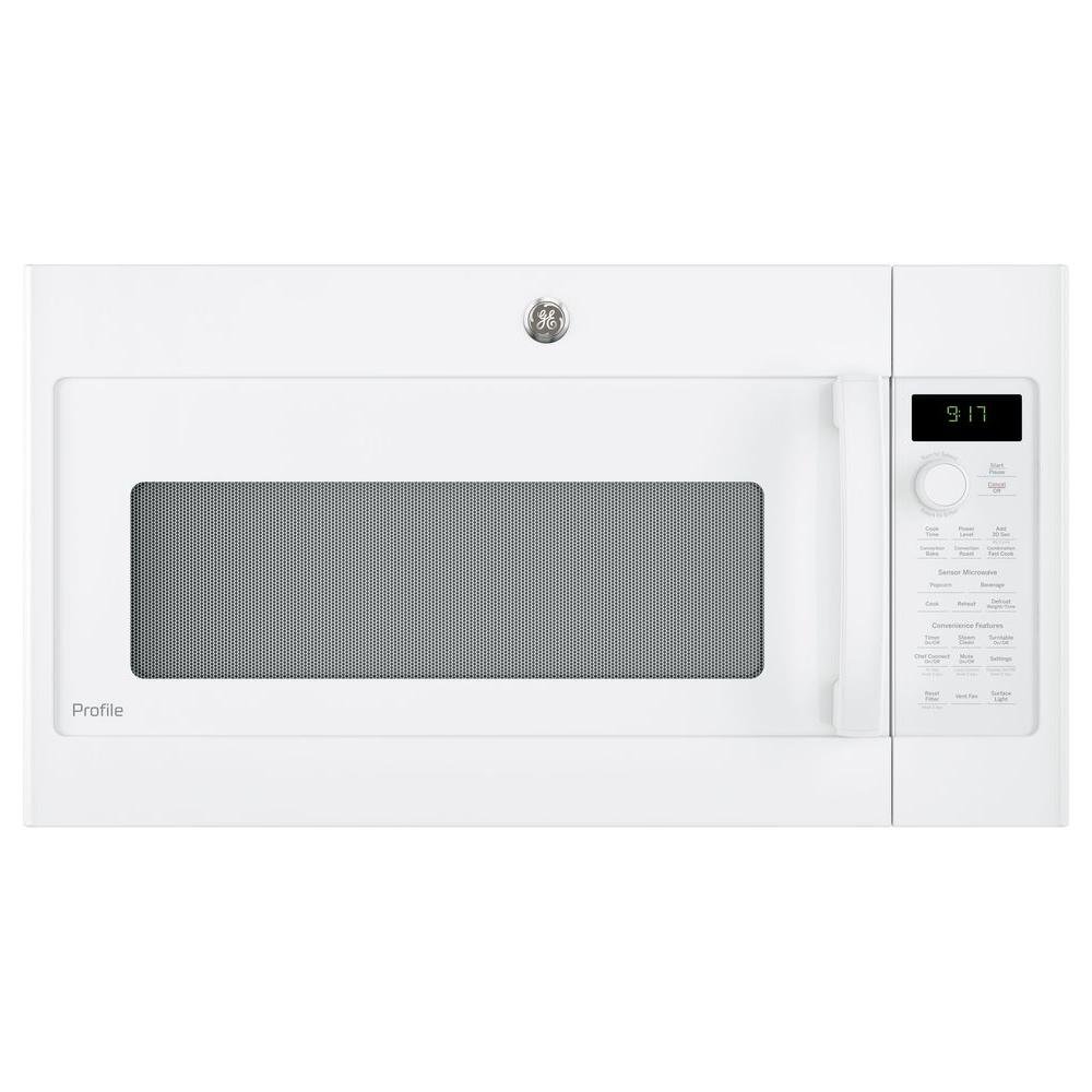 Ge Profile 1 7 Cu Ft Convection Over The Range Microwave In White