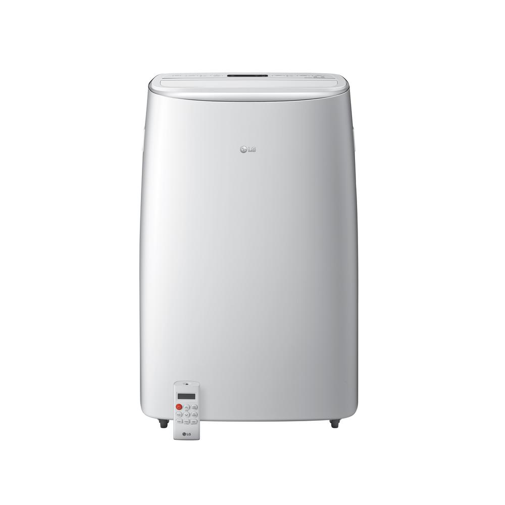 LG 14,000 BTU (10,000 BTU, DOE) Portable Air Conditioner, Dual Inverter, Quiet, Energy Eff, Wi-Fi with LCD Remote in White