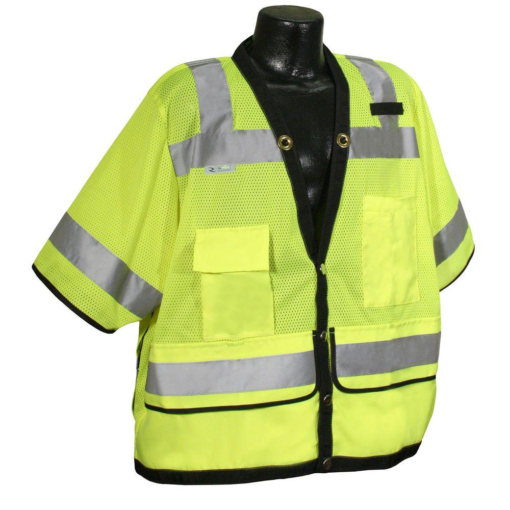 Cl 3 Heavy Duty Surveyor green Dual 4X Safety Vest