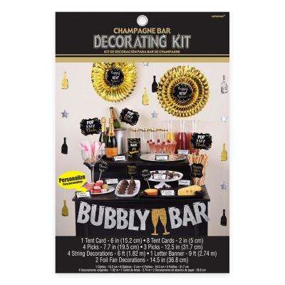 New Year's 16 in. Champagne Bar Decorating Kit