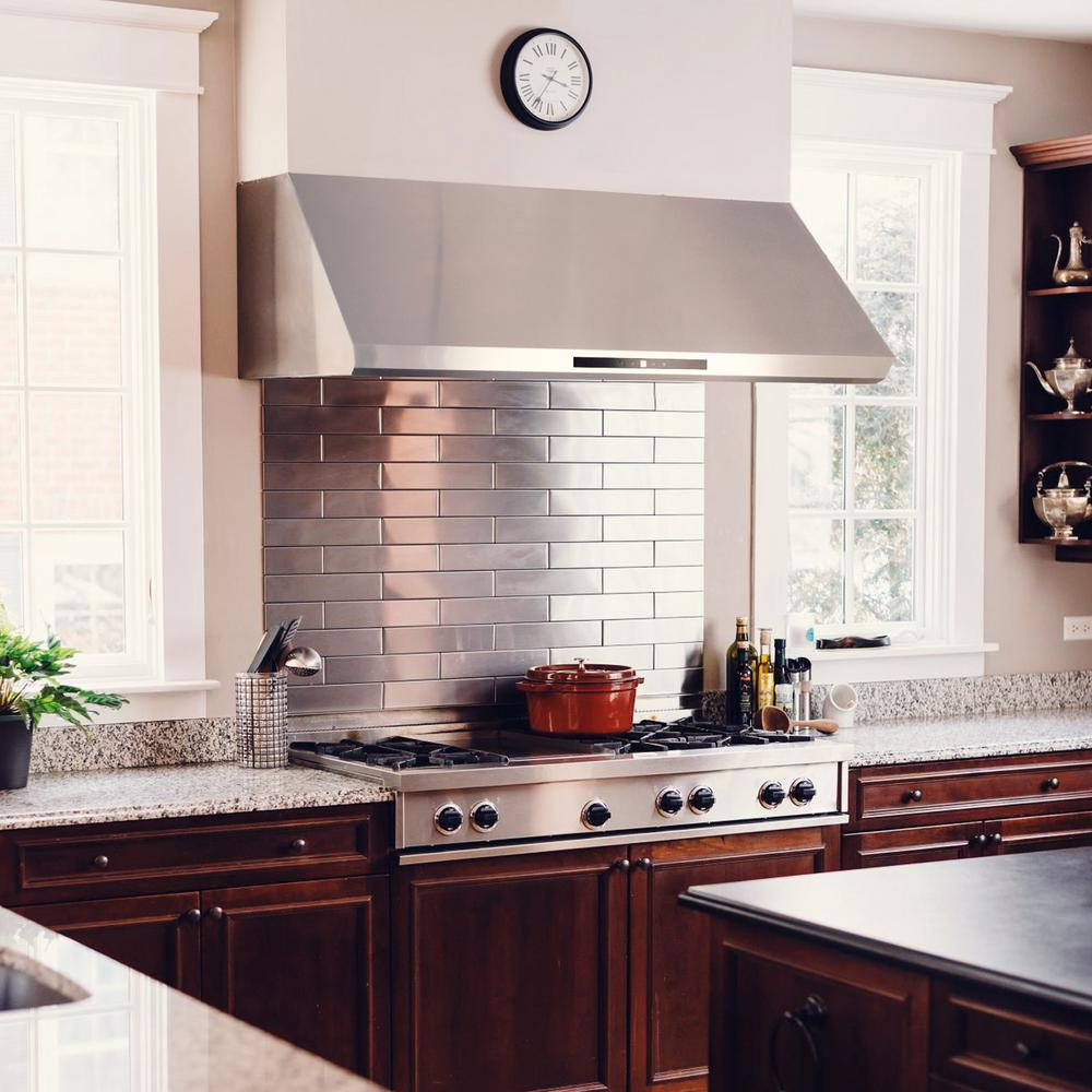 Cosmo 48 In Ducted Under Cabinet Range Hood With Led Light And