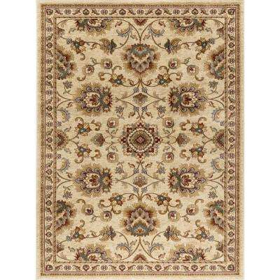 Sensation Ivory 5 Ft X 7 Traditional Area Rug