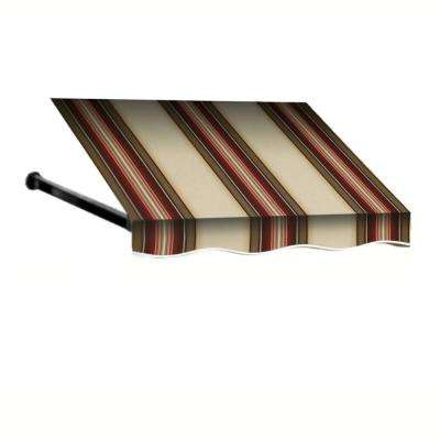 5 ft. Dallas Retro Window/Entry Awning (24 in. H x 42 in. D) in Brown/White Stripe