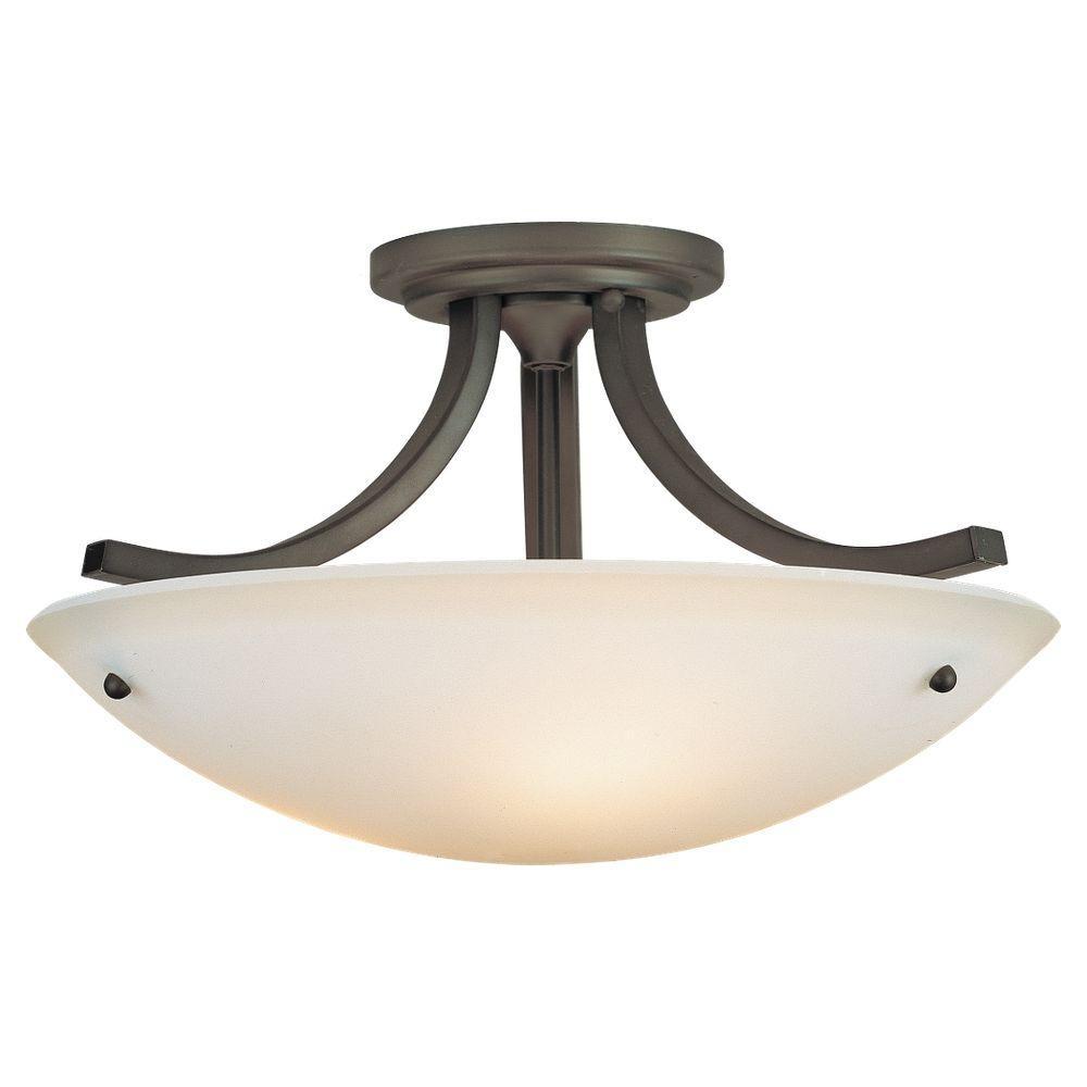 feiss gravity 3 light oil rubbed bronze semi flush mount light