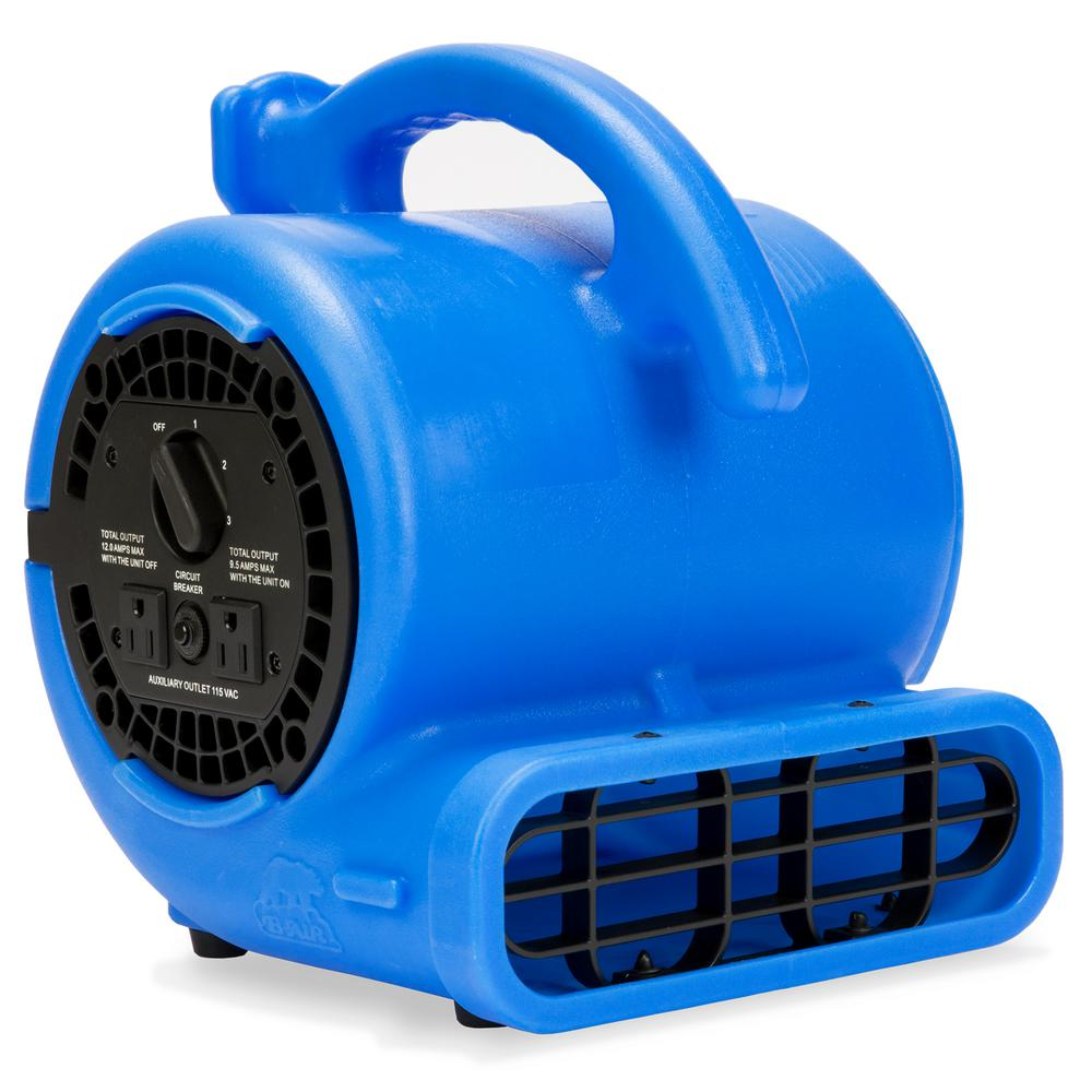 B-Air VP-20 1/5 HP Air Mover for Water Damage Restoration Carpet Dryer Floor Blower Fan Home and Plumbing Use in Blue