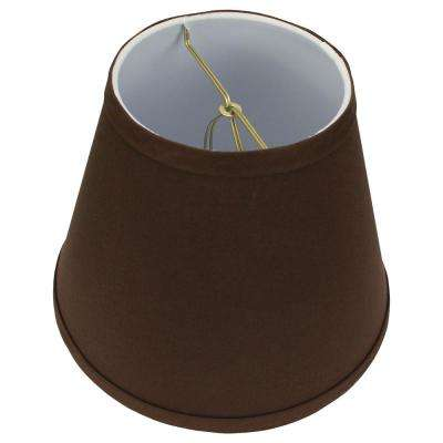 5 in. Top Diameter x 9 in. Bottom Diameter x 7 in. Slant Linen Coffee Empire Lamp Shade