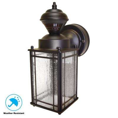 Shaker Cove Mission 150° Outdoor Oiled Rubbed Bronze Motion-Sensing Lantern