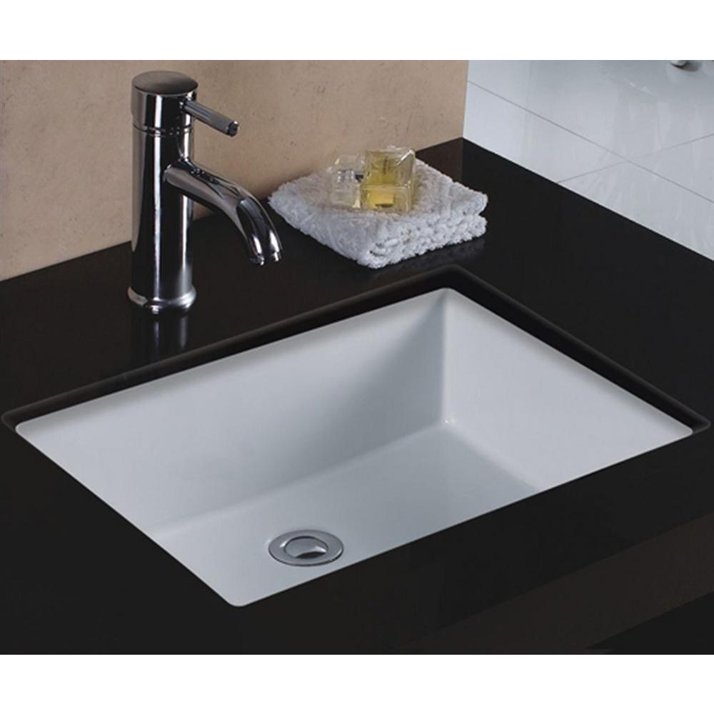 Wells Rhythm Series Undermount Ceramic 20 in. Single Bowl Kitchen Sink in  White