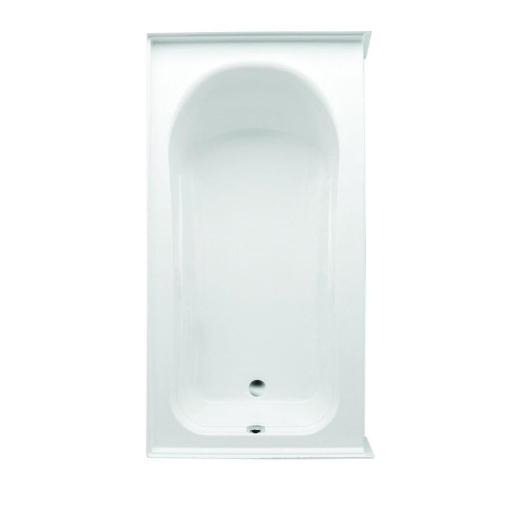 Vincenzo Q 66 in. Acrylic Left Drain Rectangular Alcove Soaking Bathtub in