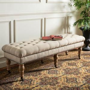 Barney True Taupe Bench