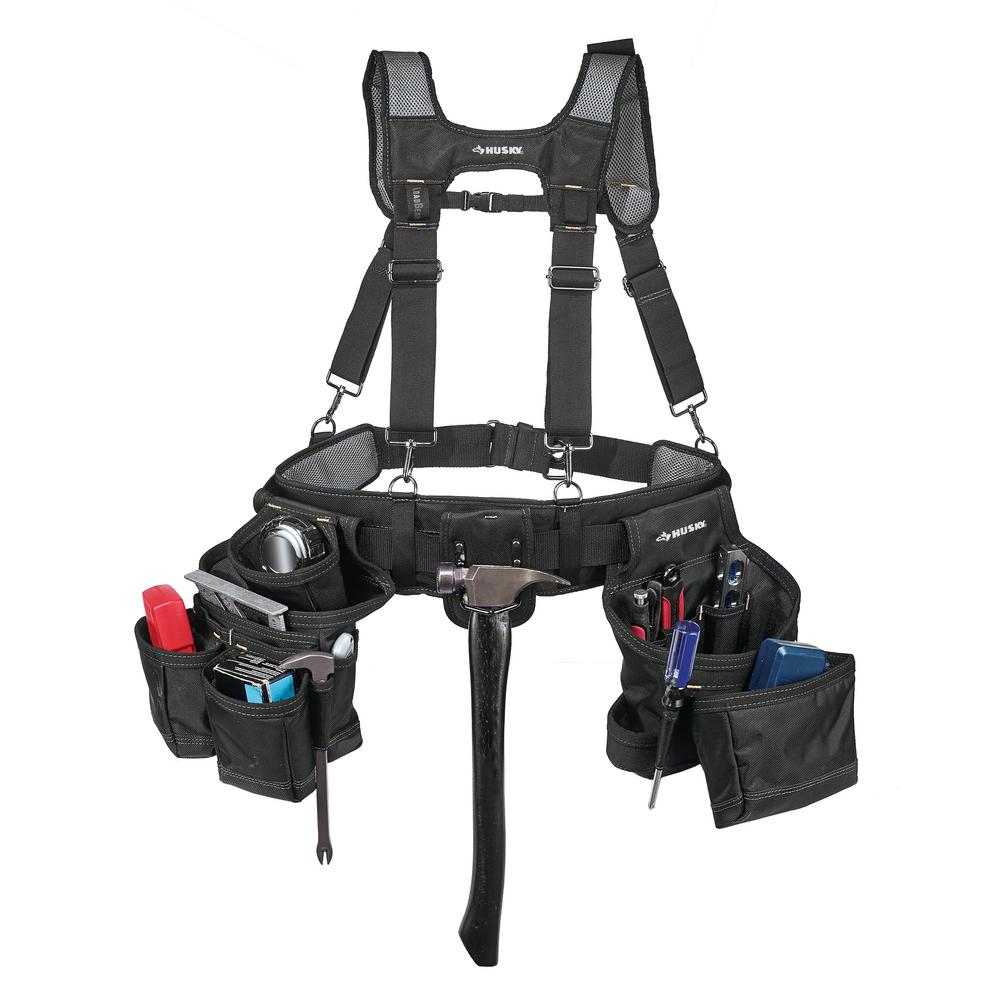 16-Pocket Carpenter's Suspension Rig Black