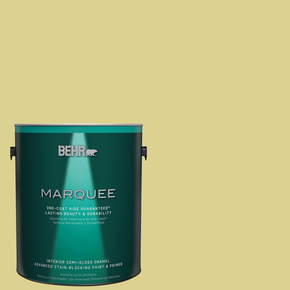 1 gal. #T17-16 That's My Lime Semi-Gloss Enamel Interior Paint