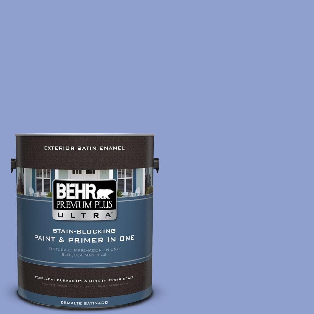 BEHR Premium Plus Ultra 1-gal. #600B-4 Pageant Song Satin Enamel Exterior Paint