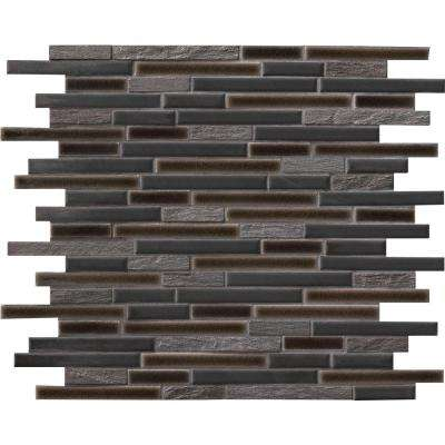 Titan Interlocking 12 in. x 12 in. x 8mm Porcelain and Stone Mesh Mounted Mosaic Tile