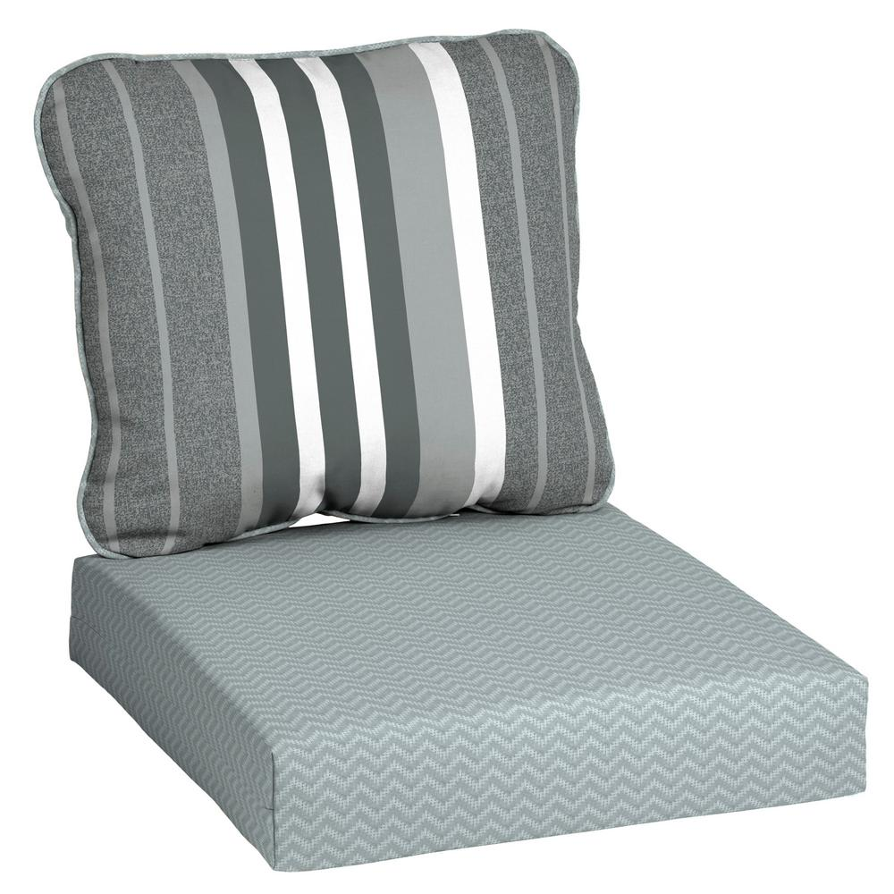 Hampton Bay Driweave 24 X 22 Petersburg Stripe Deep Seating Outdoor Lounge Chair Cushion