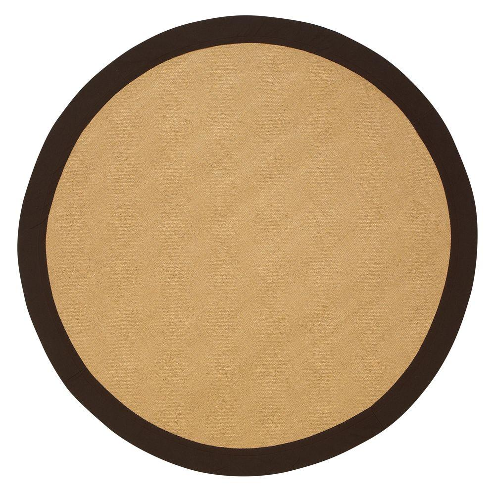 Cove Brown 8 ft. Round Area Rug