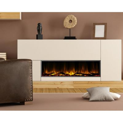 57 in. Harmony Built-in LED Electric Fireplace in Black Trim