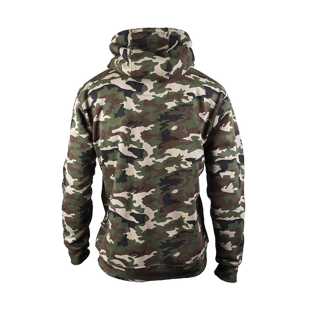 Caterpillar CAT Trademark Camo camouflage hooded sweatshirt Hoody// Work Hoodie