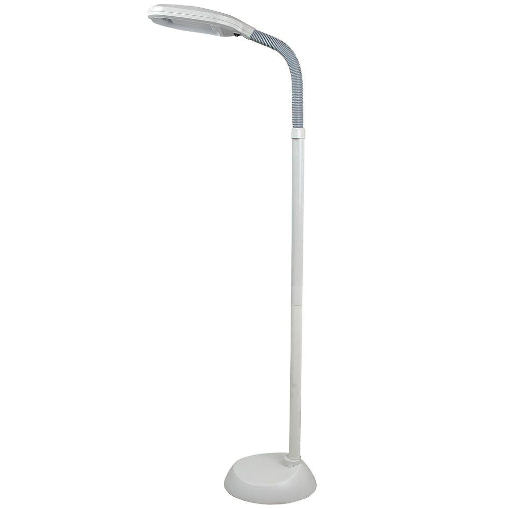 Trademark home deluxe sunlight 55 in white floor lamp 72 0820 trademark home deluxe sunlight 55 in white floor lamp mozeypictures Images