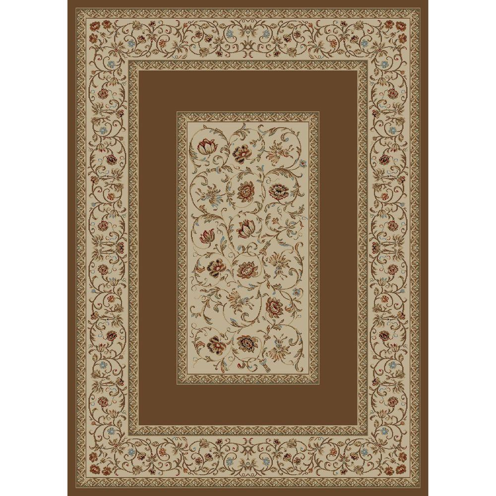 Ankara Floral Border Brown 2 ft. 7 in. x 4 ft.