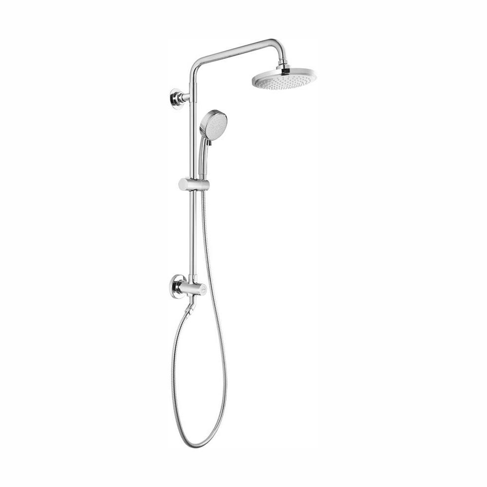Grohe Vitalio Comfort Flex 5 Spray Handheld Shower And Head Combo Kit In Starlight Chrome