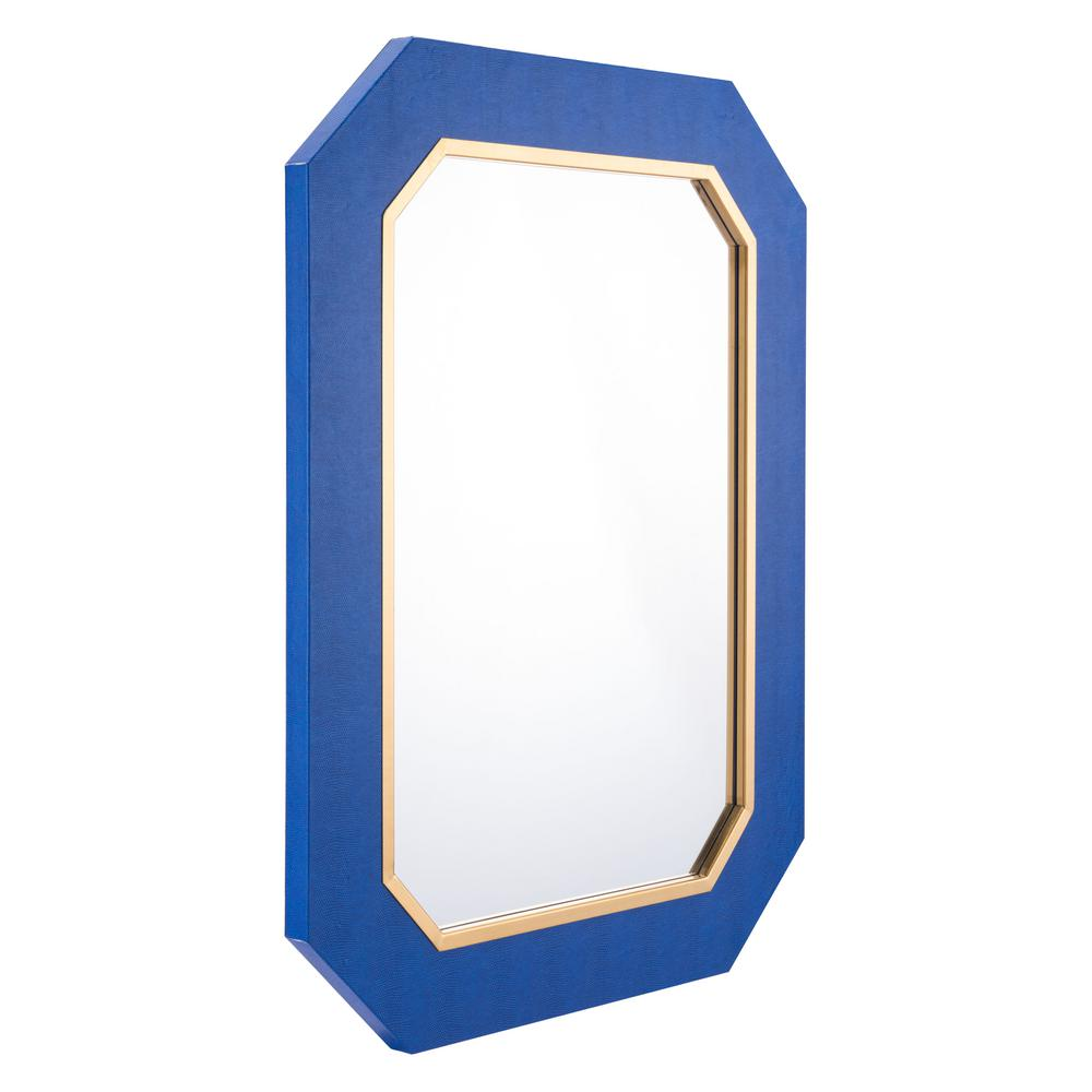 bathroom mirrors large zuo asti blue decorative mirror a11144 the home depot 11144