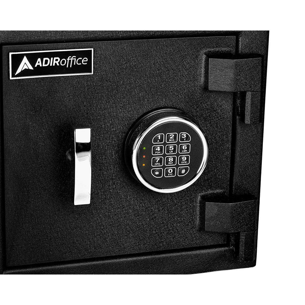 Adiroffice 2 2 Cu Ft Steel Medium Depository Safe With Digital Keypad Black 670 201 Blk The Home Depot