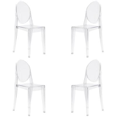 Burton Clear Side Chair (Set of 4)