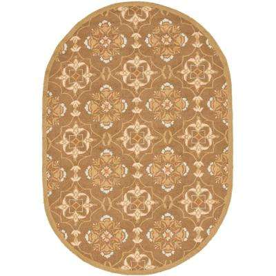 Chelsea Brown/Green 7 ft. 6 in. x 9 ft. 6 in. Oval Area Rug