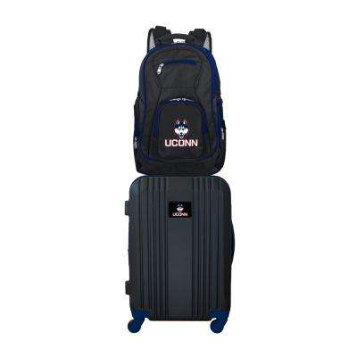 NCAA Connecticut Huskies 2-Piece Set Luggage and Backpack