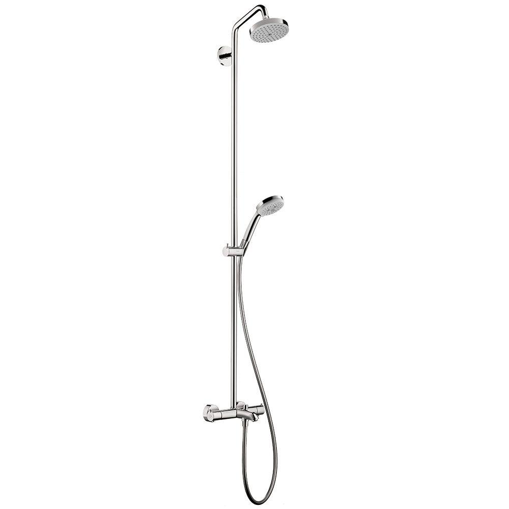 Hansgrohe Croma 4-Spray Hand Shower and Showerhead Combo Kit in ...