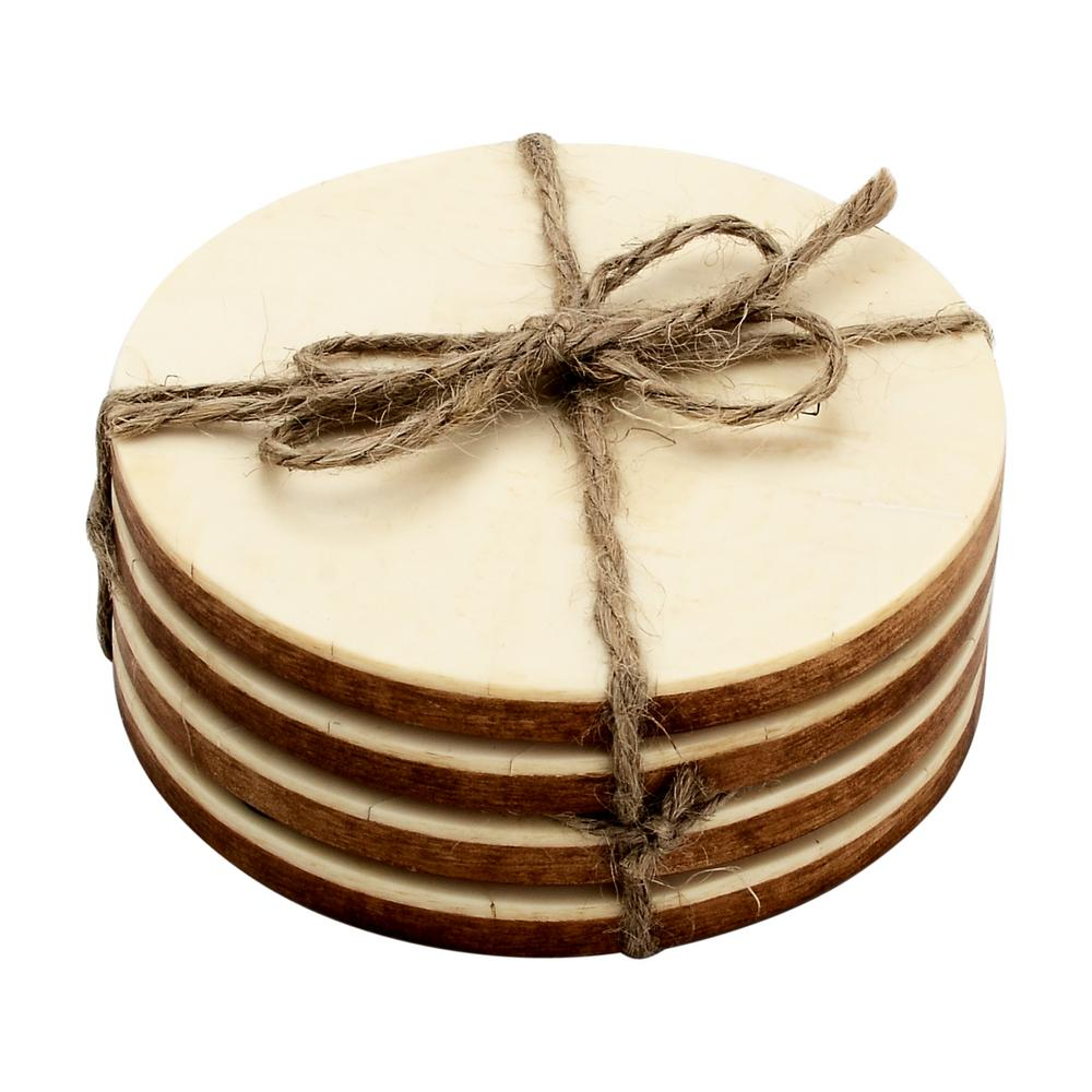 Brick Bond 4-Pieces Cream Coaster Set