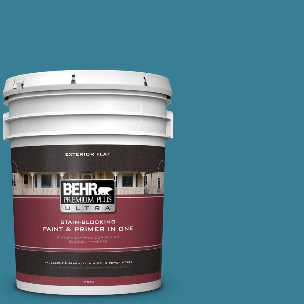 BEHR Premium Plus Ultra 5-gal. #540D-6 Wipeout Flat Exterior Paint