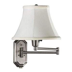 1 Light Brushed Steel Swing Arm Lamp